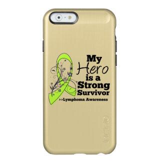 Mi héroe es un superviviente fuerte del linfoma funda para iPhone 6 plus incipio feather shine