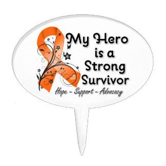 Mi héroe es una cinta fuerte del naranja del super decoración de tarta