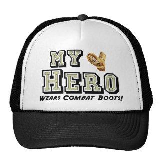 ¡Mi héroe lleva botas de combate! Gorro De Camionero