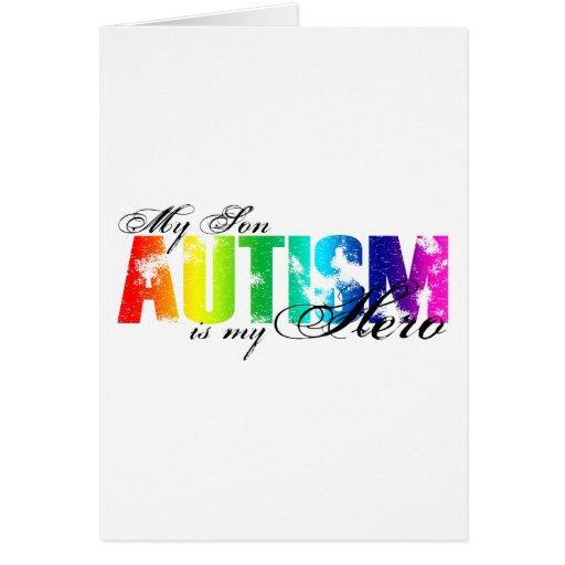 Mi héroe mi hijo - autismo felicitación