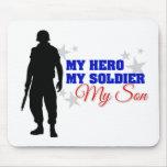 Mi héroe, mi soldado, mi hijo alfombrilla de raton