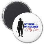 Mi héroe, mi soldado, mi hijo imanes de nevera