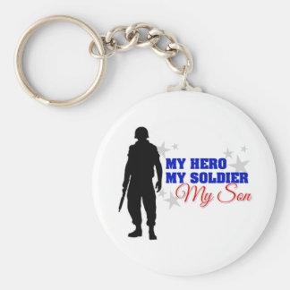 Mi héroe mi soldado mi hijo llavero personalizado