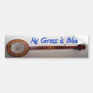 Mi hierba es azul etiqueta de parachoque