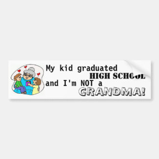 Mi High School secundaria y yo graduados niño no s Etiqueta De Parachoque