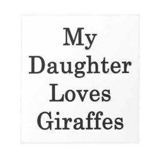 Mi hija ama jirafas bloc de notas
