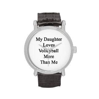 Mi hija ama voleibol más que mí relojes de mano