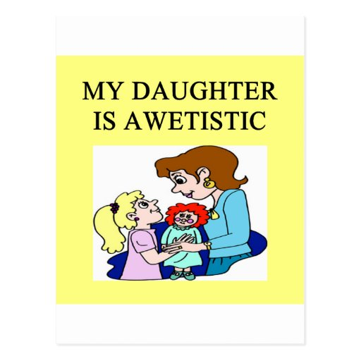 mi hija es autística postal