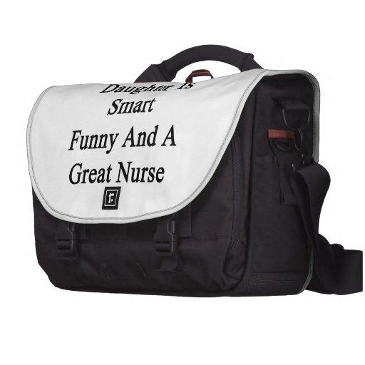 Mi hija es divertida elegante y gran enfermera bolsa de ordenador