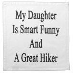 Mi hija es divertida elegante y un gran caminante servilletas de papel
