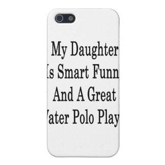 Mi hija es divertida elegante y un gran water polo iPhone 5 fundas