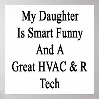 Mi hija es divertida elegante y una gran tecnologí poster
