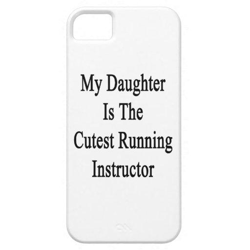 Mi hija es el instructor corriente más lindo iPhone 5 fundas