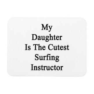 Mi hija es el instructor que practica surf más lin imanes de vinilo