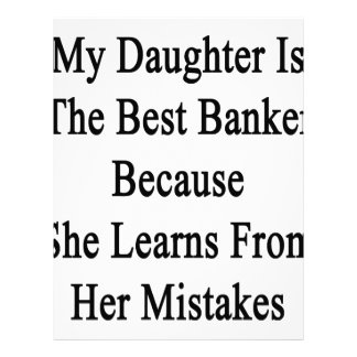 Mi hija es el mejor banquero porque ella aprende membrete a diseño
