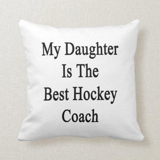 Mi hija es el mejor coche de hockey almohada