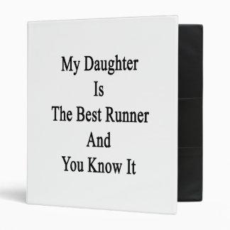 Mi hija es el mejor corredor y lo sé