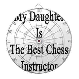 Mi hija es el mejor instructor del ajedrez tabla dardos
