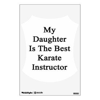 Mi hija es el mejor instructor del karate