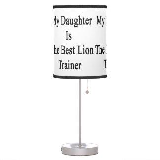 Mi hija es el mejor instructor del león