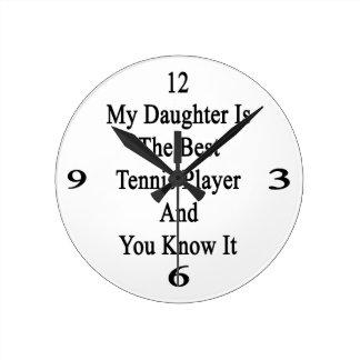 Mi hija es el mejor jugador de tenis y usted sabe reloj