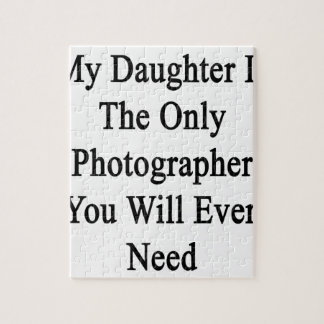 Mi hija es el único fotógrafo que usted nunca puzzles