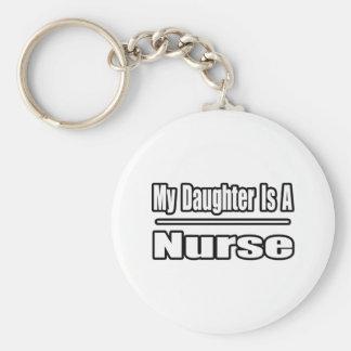 Mi hija es enfermera llavero redondo tipo pin