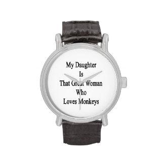 Mi hija es esa gran mujer que ama monos reloj