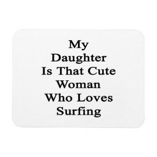 Mi hija es esa mujer linda que ama el practicar su iman rectangular