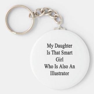 Mi hija es ese chica elegante que es también un Il Llavero Personalizado