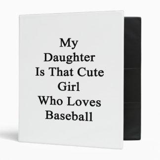 Mi hija es ese chica lindo que ama béisbol