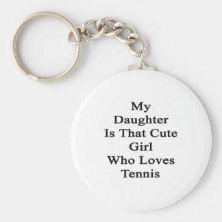 Mi hija es ese chica lindo que ama tenis llavero redondo tipo pin