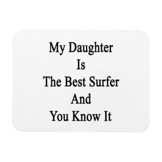 Mi hija es la mejor persona que practica surf y us imanes rectangulares