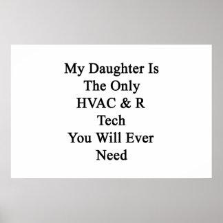 Mi hija es la única tecnología de la HVAC R que Posters