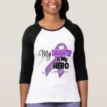 Mi hija es mi héroe - cinta púrpura camisetas