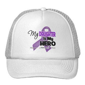 Mi hija es mi héroe - cinta púrpura gorro de camionero