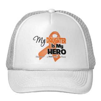 Mi hija es mi héroe - leucemia gorras