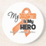 Mi hija es mi héroe - leucemia posavasos para bebidas