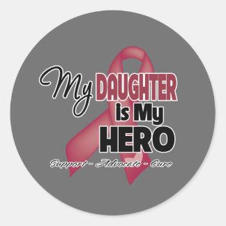 Mi hija es mi héroe - mieloma múltiple pegatina redonda