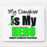 Mi hija es mi héroe tapetes de raton