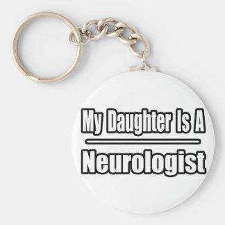 Mi hija es neurólogo llavero redondo tipo pin