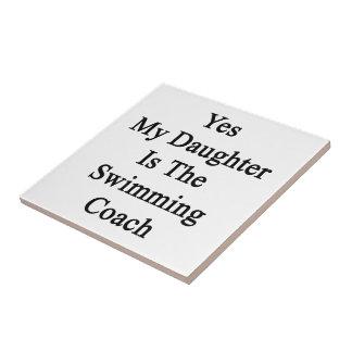 Mi hija es sí el coche de la natación azulejo cuadrado pequeño