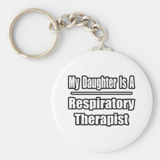 Mi hija es terapeuta respiratorio llaveros