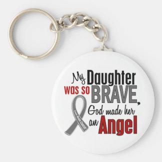 Mi hija es un cáncer de cerebro del ángel 1 llaveros