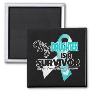 Mi hija es un superviviente - cáncer de cuello del imán cuadrado