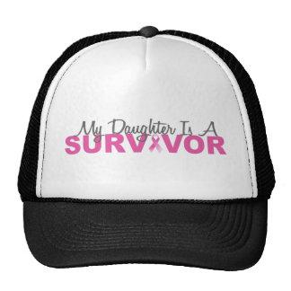 Mi hija es un superviviente (la cinta rosada) gorros
