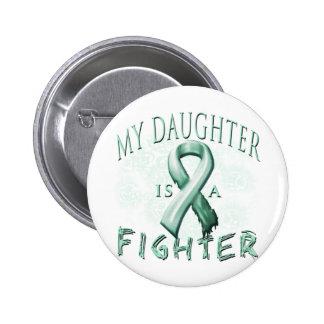 Mi hija es un trullo del combatiente pin redondo de 2 pulgadas