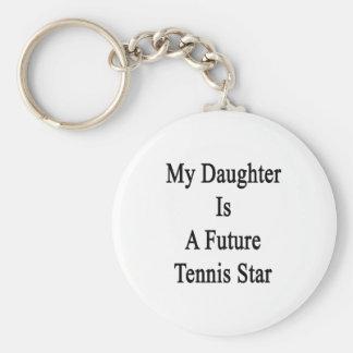 Mi hija es una estrella de tenis futura llavero redondo tipo pin