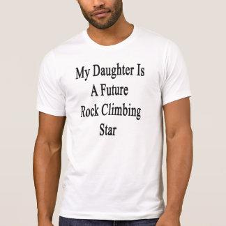 Mi hija es una estrella futura de la escalada remeras