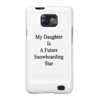 Mi hija es una estrella futura de la snowboard samsung galaxy s2 funda